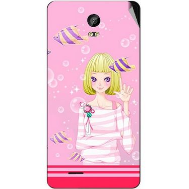 Snooky 42037 Digital Print Mobile Skin Sticker For Intex Aqua Life 2 - Pink