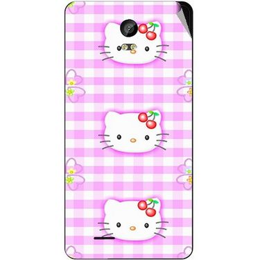 Snooky 42041 Digital Print Mobile Skin Sticker For Intex Aqua Life 2 - Pink