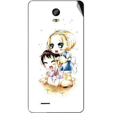 Snooky 42046 Digital Print Mobile Skin Sticker For Intex Aqua Life 2 - White