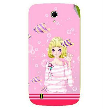 Snooky 42059 Digital Print Mobile Skin Sticker For Intex Aqua N4 - Pink