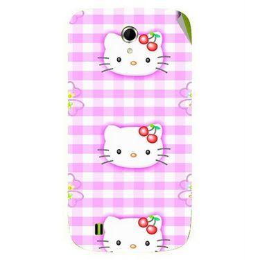 Snooky 42063 Digital Print Mobile Skin Sticker For Intex Aqua N4 - Pink