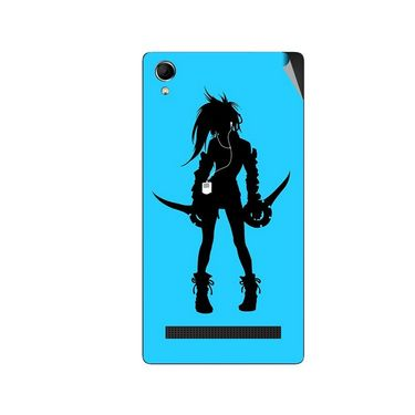 Snooky 42119 Digital Print Mobile Skin Sticker For Intex Aqua Power Plus - Blue