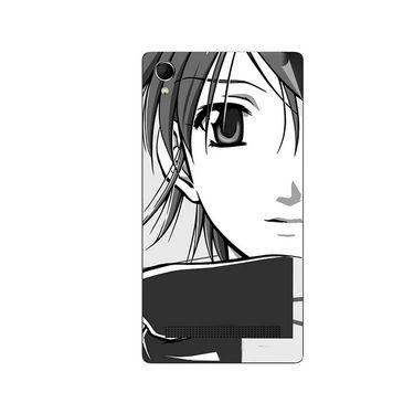 Snooky 42120 Digital Print Mobile Skin Sticker For Intex Aqua Power Plus - Grey