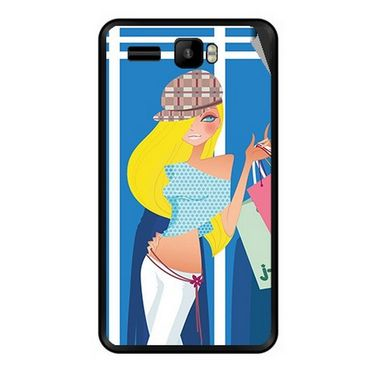 Snooky 42146 Digital Print Mobile Skin Sticker For Intex Aqua R3 - Blue