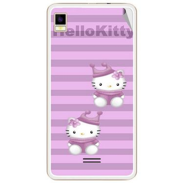 Snooky 42172 Digital Print Mobile Skin Sticker For Intex Aqua Star 5.0 - Pink