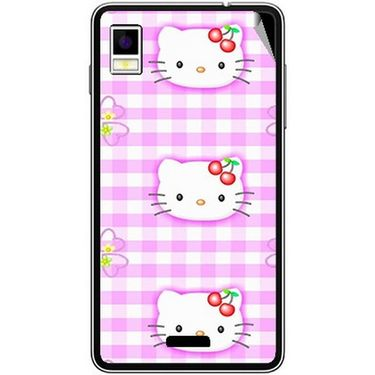 Snooky 42206 Digital Print Mobile Skin Sticker For Intex Aqua Style - Pink