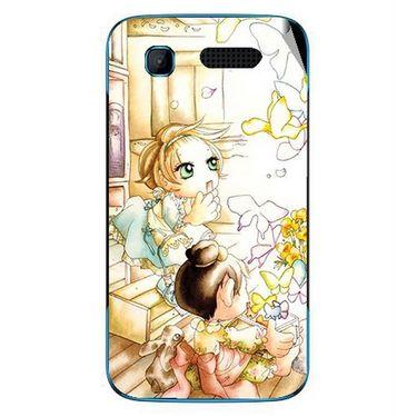 Snooky 42236 Digital Print Mobile Skin Sticker For Intex Aqua T3 - White