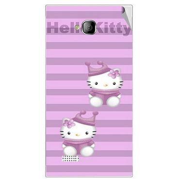 Snooky 42260 Digital Print Mobile Skin Sticker For Intex Aqua Y2 - Pink