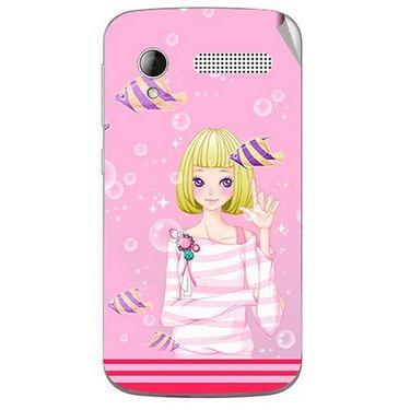 Snooky 42301 Digital Print Mobile Skin Sticker For Intex Cloud Y12 - Pink