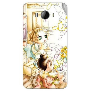 Snooky 42324 Digital Print Mobile Skin Sticker For Intex Aqua N15 - White