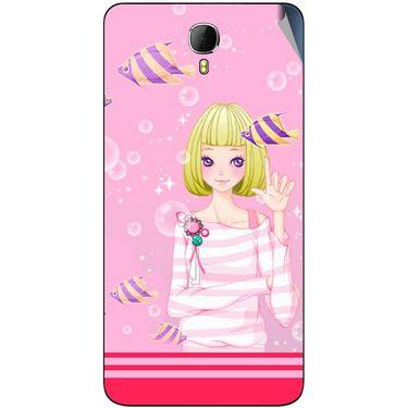 Snooky 42334 Digital Print Mobile Skin Sticker For Intex Aqua Star 2 - Pink