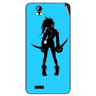 Snooky 42394 Digital Print Mobile Skin Sticker For Intex Aqua Style Pro - Blue
