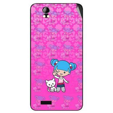 Snooky 42396 Digital Print Mobile Skin Sticker For Intex Aqua Style Pro - Pink