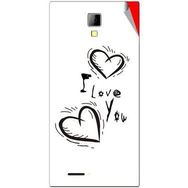 Snooky 46277 Digital Print Mobile Skin Sticker For Micromax Canvas Xpress A99 - White