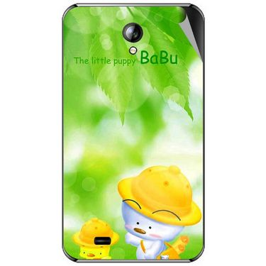 Snooky 46298 Digital Print Mobile Skin Sticker For Micromax Superfone A101 - Green