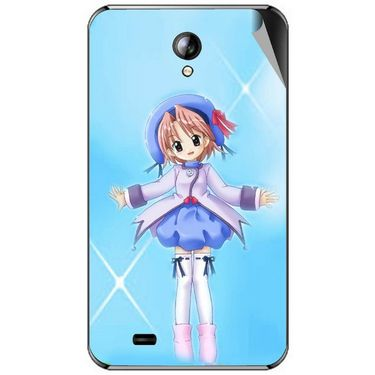 Snooky 46311 Digital Print Mobile Skin Sticker For Micromax Superfone A101 - Blue