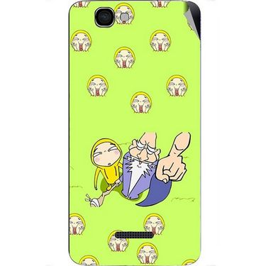 Snooky 46642 Digital Print Mobile Skin Sticker For Micromax Canvas 2 A120 - Green