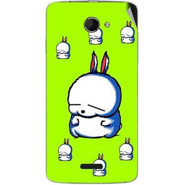 Snooky 46654 Digital Print Mobile Skin Sticker For Micromax Canvas Elanza 2 A121 - Green