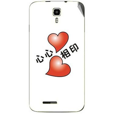 Snooky 46692 Digital Print Mobile Skin Sticker For Micromax Canvas Juice A177 - White