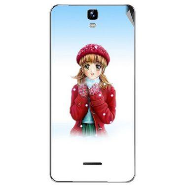 Snooky 46732 Digital Print Mobile Skin Sticker For Micromax Canvas HD Plus A190 - White