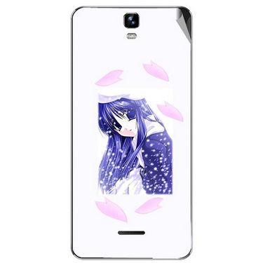 Snooky 46735 Digital Print Mobile Skin Sticker For Micromax Canvas HD Plus A190 - White