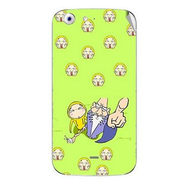 Snooky 46770 Digital Print Mobile Skin Sticker For Micromax Canvas 4 A210 - Green