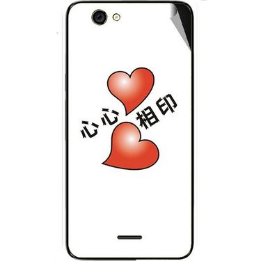 Snooky 46820 Digital Print Mobile Skin Sticker For Micromax Canvas knight cameo A290 - White