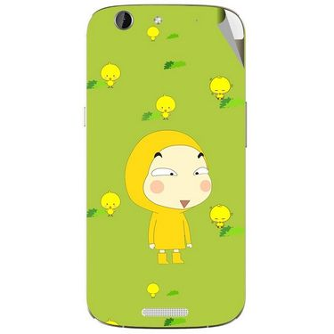 Snooky 46837 Digital Print Mobile Skin Sticker For Micromax Canvas A300 - Green
