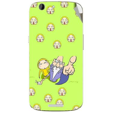 Snooky 46866 Digital Print Mobile Skin Sticker For Micromax Canvas A300 - Green