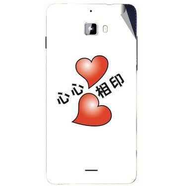 Snooky 46884 Digital Print Mobile Skin Sticker For Micromax Canvas Nitro A310 - White