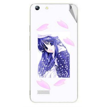 Snooky 46991 Digital Print Mobile Skin Sticker For Micromax Canvas Hue AQ5000 - White