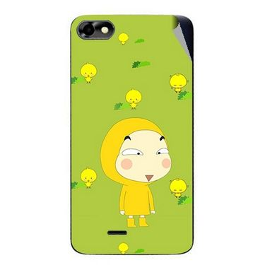 Snooky 47029 Digital Print Mobile Skin Sticker For Micromax Bolt D321 - Green