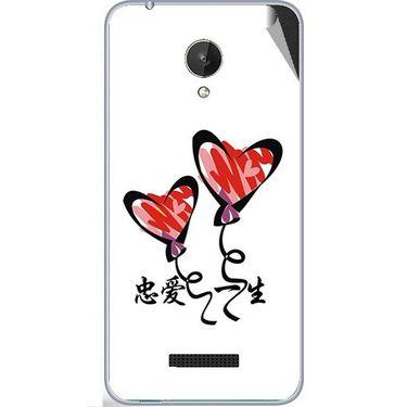 Snooky 47078 Digital Print Mobile Skin Sticker For Micromax Canvas Spark Q380 - White