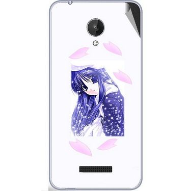 Snooky 47087 Digital Print Mobile Skin Sticker For Micromax Canvas Spark Q380 - White