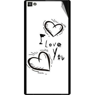 Snooky 47108 Digital Print Mobile Skin Sticker For Xolo Hive 8X-1000 - White