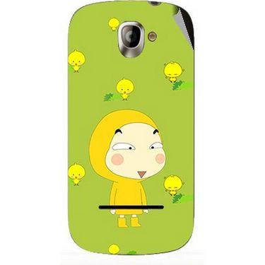 Snooky 47124 Digital Print Mobile Skin Sticker For Xolo A500 - Green