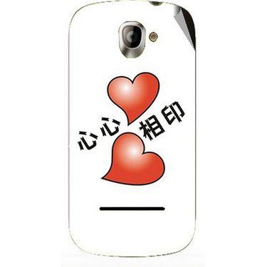 Snooky 47139 Digital Print Mobile Skin Sticker For Xolo A500 - White