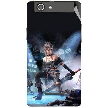 Snooky 47196 Digital Print Mobile Skin Sticker For Xolo A500s - Blue