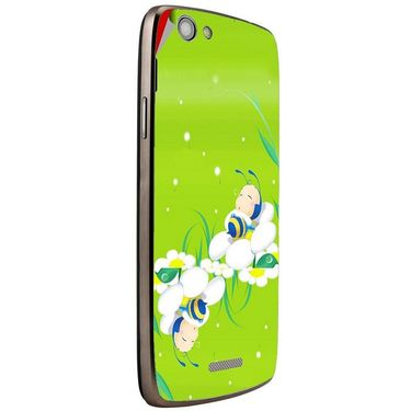 Snooky 47258 Digital Print Mobile Skin Sticker For Xolo A510S - Green