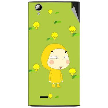 Snooky 47316 Digital Print Mobile Skin Sticker For Xolo A600 - Green