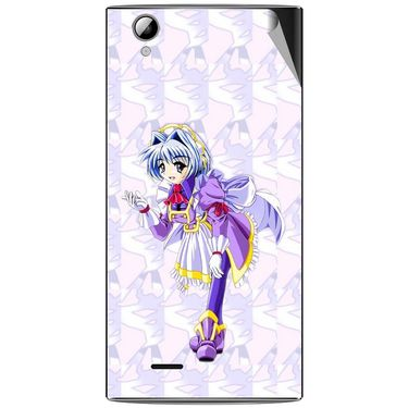 Snooky 47338 Digital Print Mobile Skin Sticker For Xolo A600 - Purple