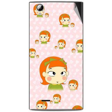 Snooky 47346 Digital Print Mobile Skin Sticker For Xolo A600 - Orange