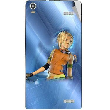 Snooky 47355 Digital Print Mobile Skin Sticker For Xolo A1000S - Blue