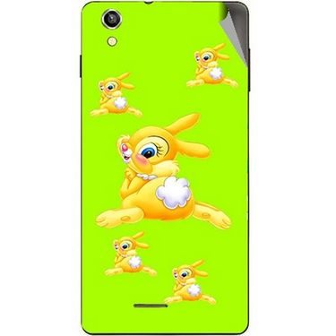 Snooky 47394 Digital Print Mobile Skin Sticker For Xolo A1010 - Green