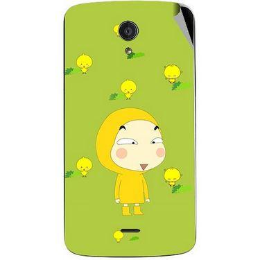Snooky 47412 Digital Print Mobile Skin Sticker For Xolo Omega 5.0 - Green