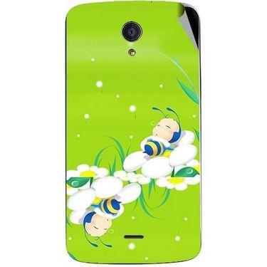 Snooky 47418 Digital Print Mobile Skin Sticker For Xolo Omega 5.0 - Green