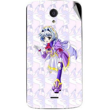 Snooky 47466 Digital Print Mobile Skin Sticker For Xolo Omega 5.5 - Purple