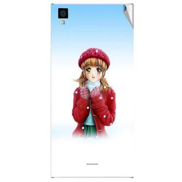 Snooky 47563 Digital Print Mobile Skin Sticker For Xolo Q600s - White