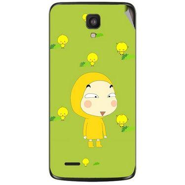 Snooky 47604 Digital Print Mobile Skin Sticker For Xolo Q700 - Green