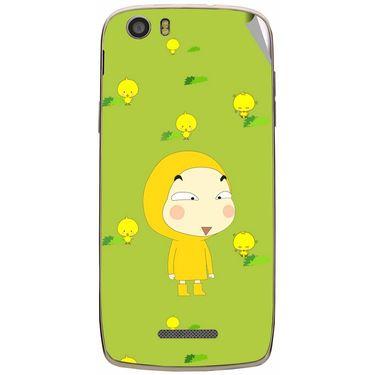 Snooky 47636 Digital Print Mobile Skin Sticker For Xolo Q700s - Green